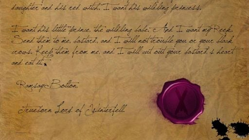 The Pink Letter, who wrote it? | Thrones Amino