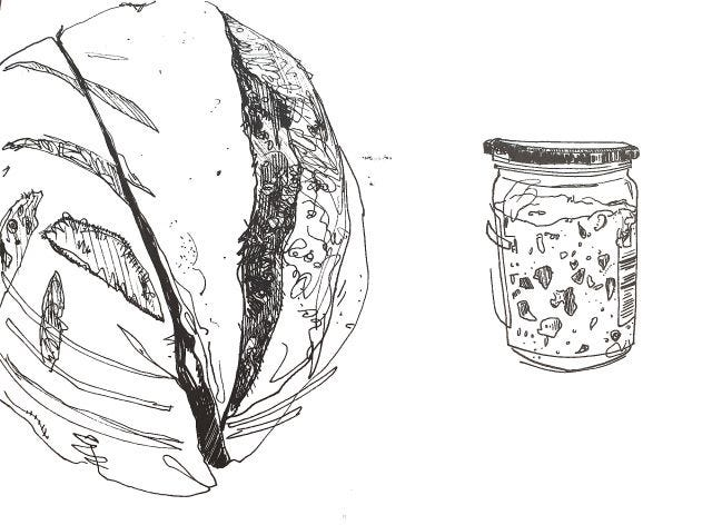 Sourdough boule & starter by Klaussie