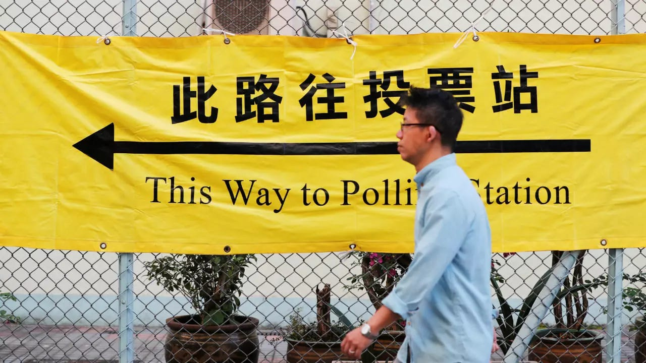 High turnout for Hong Kong election seen as referendum on protests