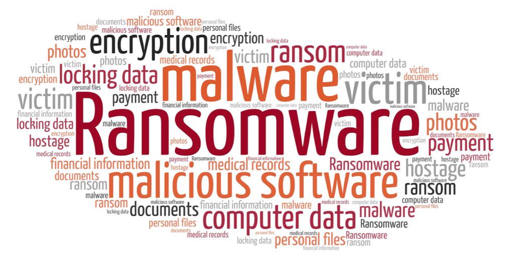 Immagine con elenco parole inerenti danni possibili ad un computer