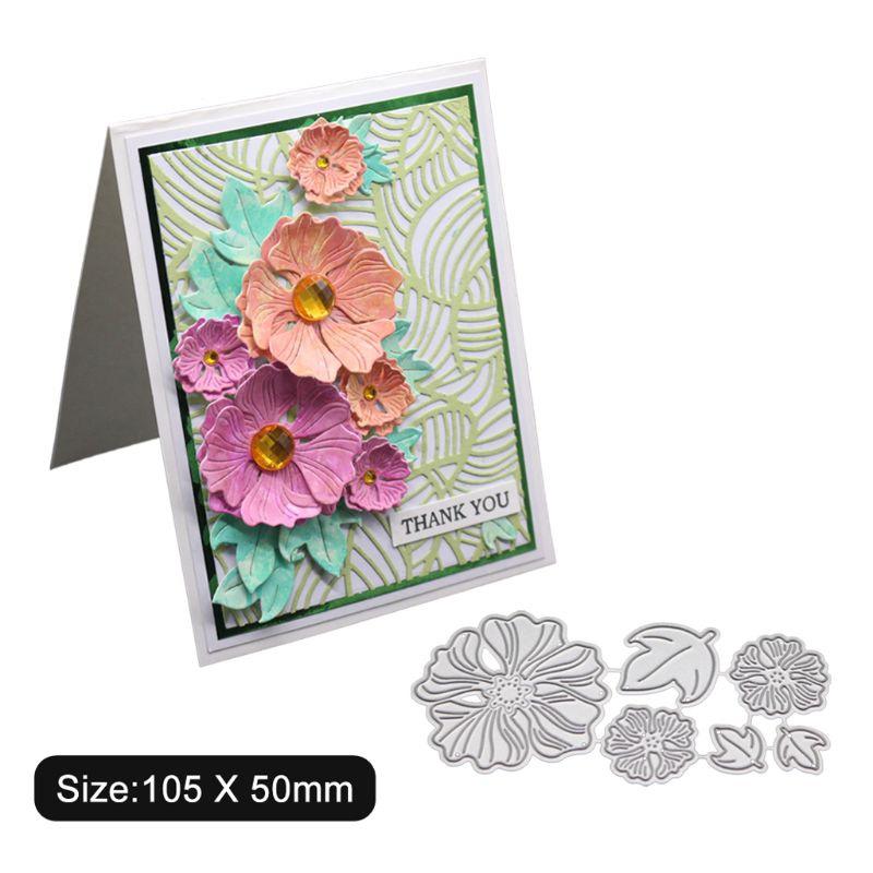 Flower Metal Cutting Dies Stencil DIY Scrapbooking Album Stamp Paper Card Crafts