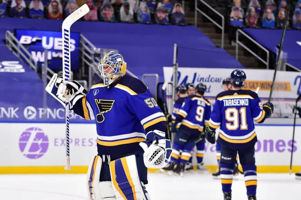 Blues get a 50-save answer from Jordan Binnington as questions about  confidence, trade deadline swirl: 'We're coming' – The Athletic