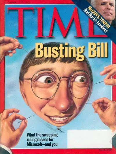 """Time Magazine cover from November 1999 """"Busting Bill"""""""