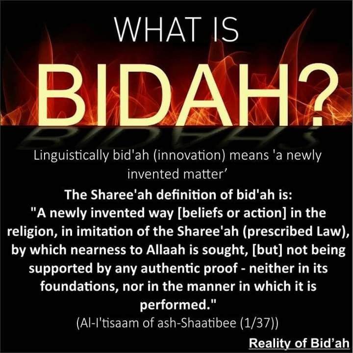 What is a bidah? | Hadith quotes, Islamic teachings, Islamic messages