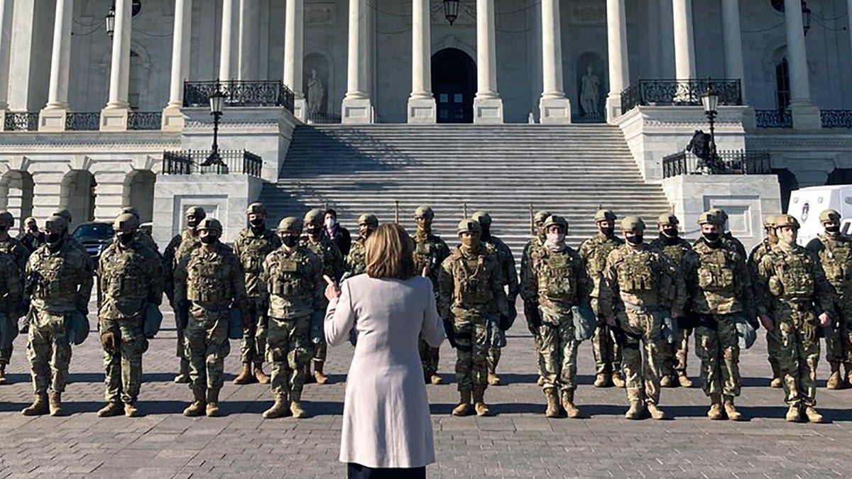 Nancy Pelosi thanks National Guard before Impeachment hearing