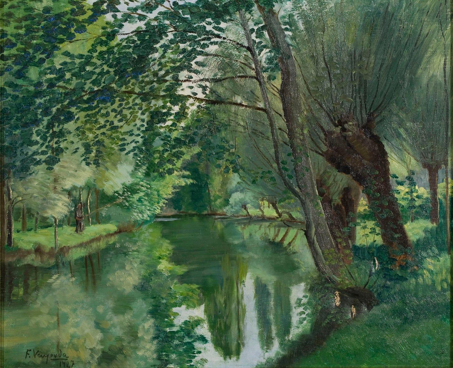 Francesc Vayreda - Vora riu - 1927