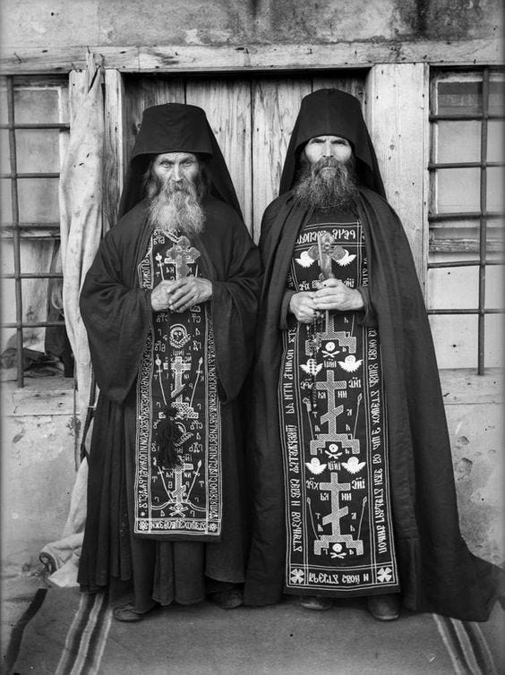 [Human] Christian Orthodox schema monks, Russia