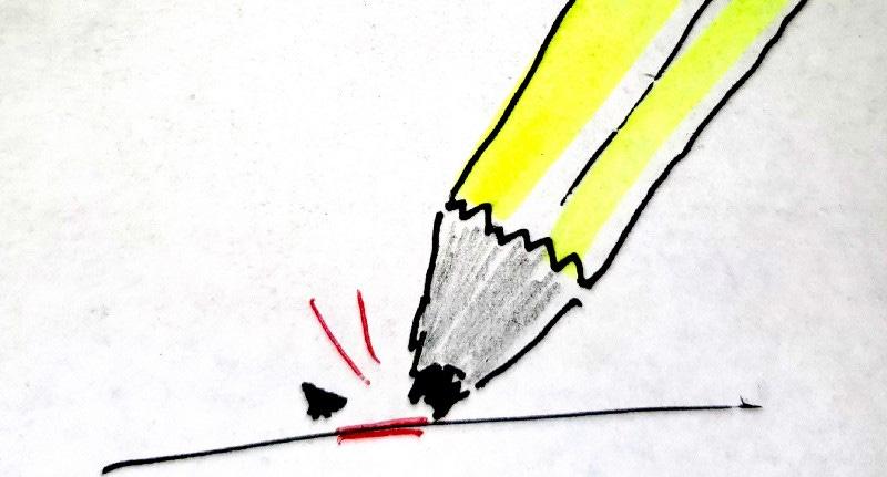 pencil lead break