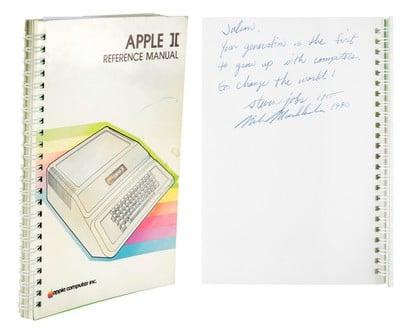 steve jobs signed apple ii manual