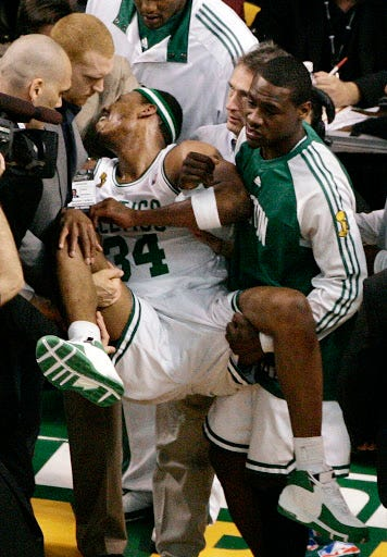Paul Pierce admission on famous wheelchair incident: 'I just had to go to  the bathroom' - masslive.com