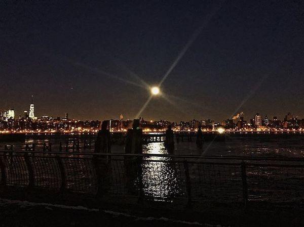 Good morning, super moon.