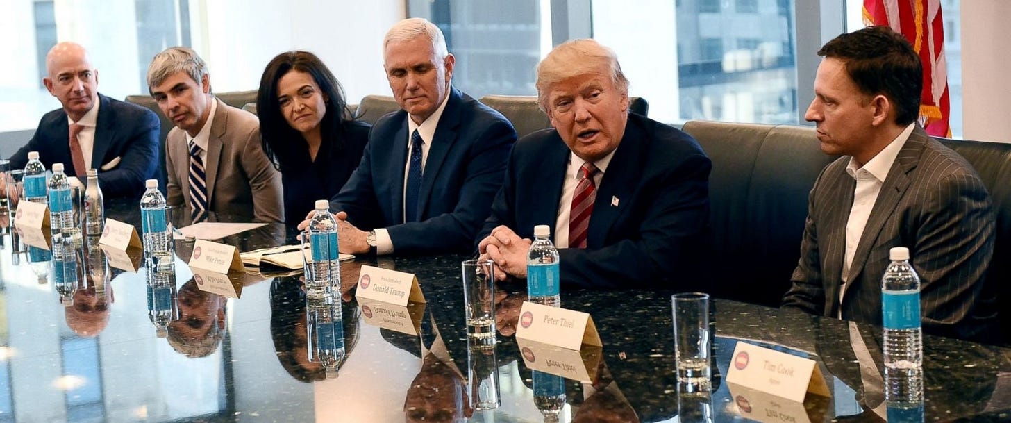 Trump Tells Tech Leaders, 'No Formal Chain of Command ...