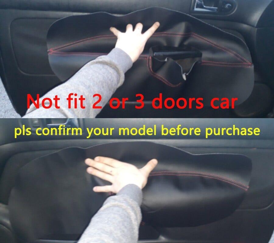 LHD For VW Golf 4 MK4 Bora Jetta 1998 1999 2000 2001 2002 2003 2004 2005 Car Door Armrest Panel Microfiber Leather Cover Trim