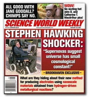 A photo of the cover of Science World Weekly
