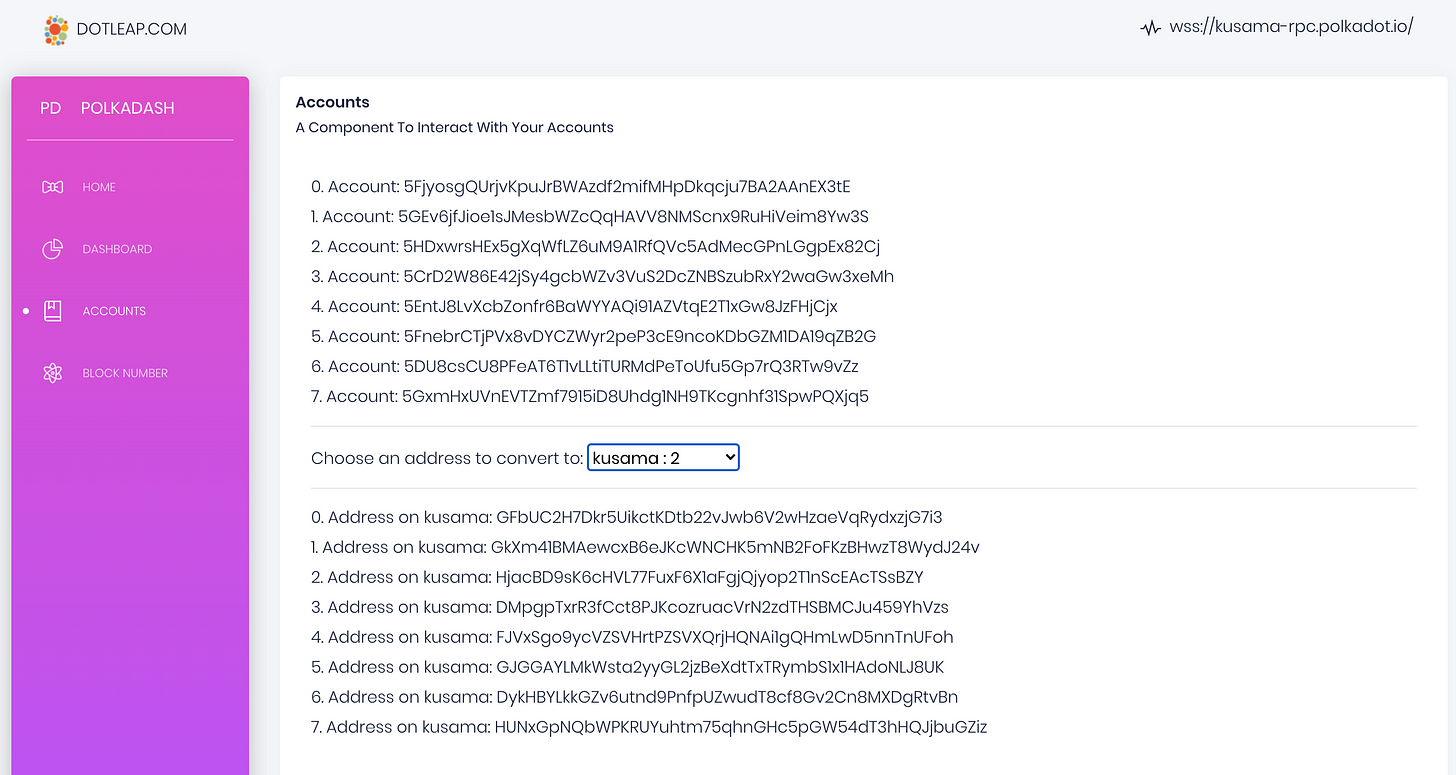 Screenshot of finished component