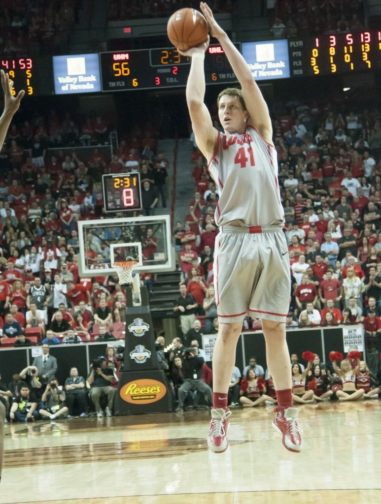 Bairstow in action - Courtesy of New Mexico Athletics
