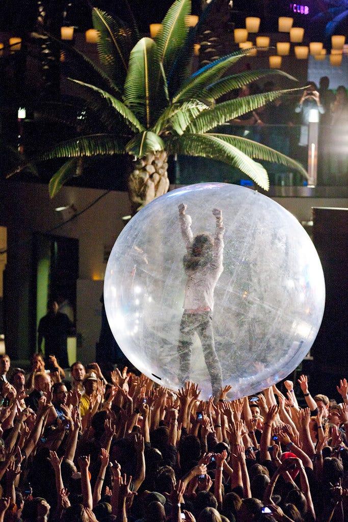 The Flaming Lips Performing at The Boulevard Pool at The Cosmopolitan of Las Vegas