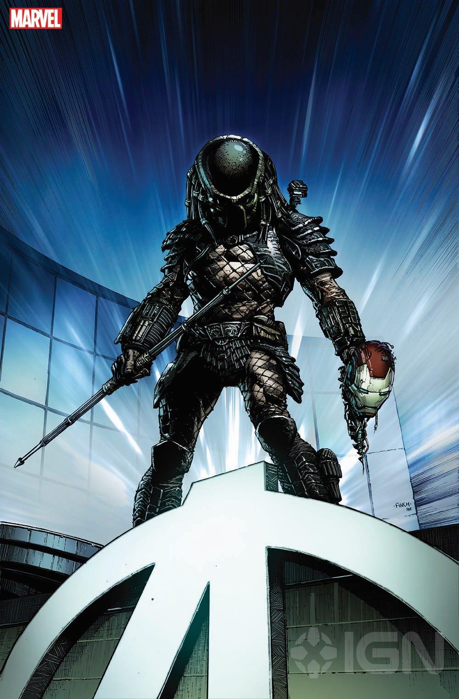 Predator art by David Finch. (Image Credit: Marvel)