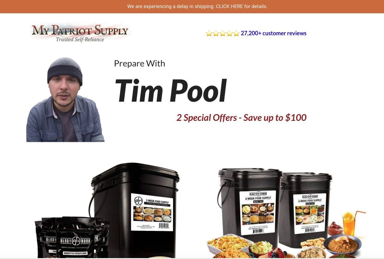 """lvl 45 chaos potus LIMITED EDITION! on Twitter: """"I support Tim Pool's pivot  to literal slop buckets… """""""