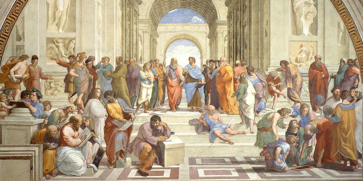 Who's who in Raphael's School of Athens?
