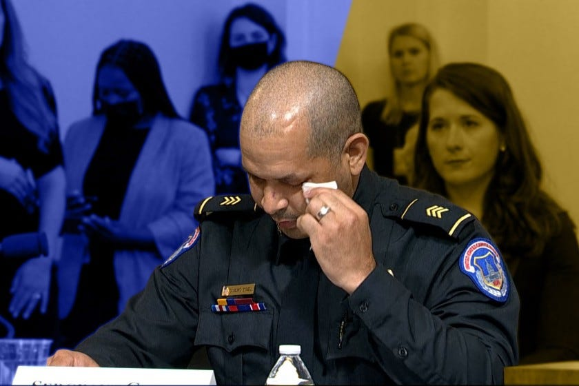 Officers relive the hours-long fight with rioters in testimony to the House committee investigating the Jan. 6 Capitol attack.