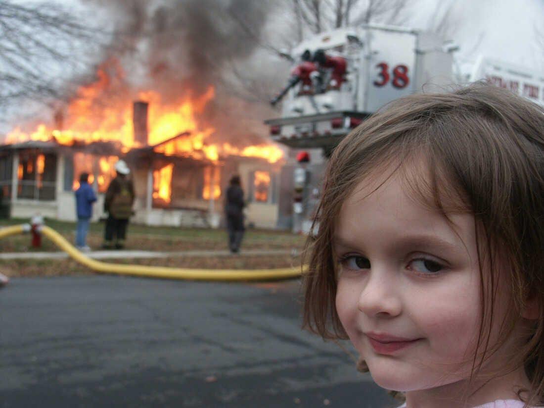 Disaster Girl' NFT Sells For Nearly $500,000 : NPR