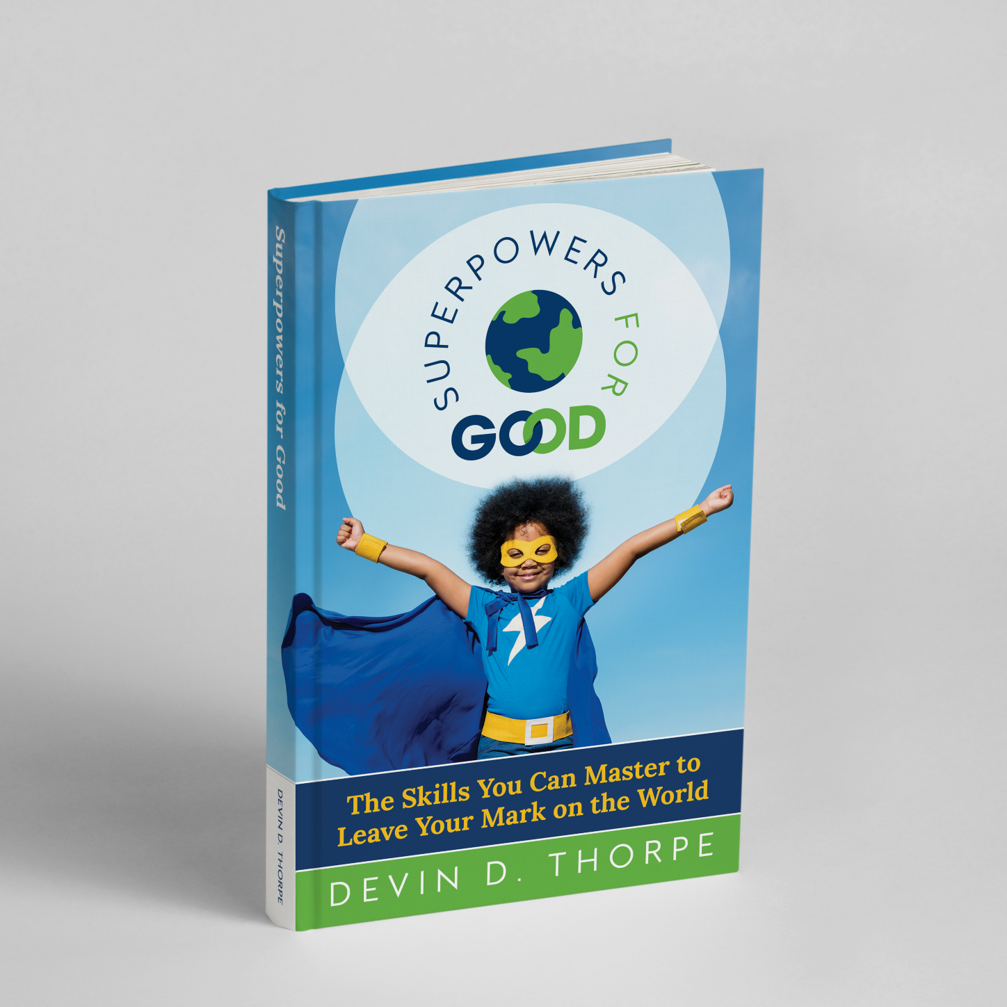 Photo of hardcover edition of Superpowers for Good