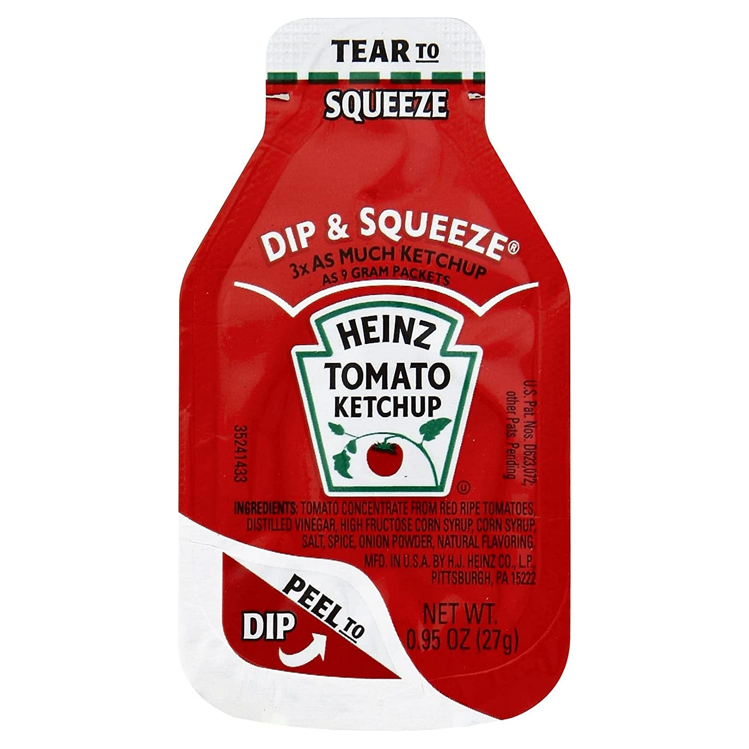 Amazon.com : Heinz Ketchup Dip & Squeeze Single Serve Packets (0.95 oz  Packets, Pack of 500) : Grocery & Gourmet Food