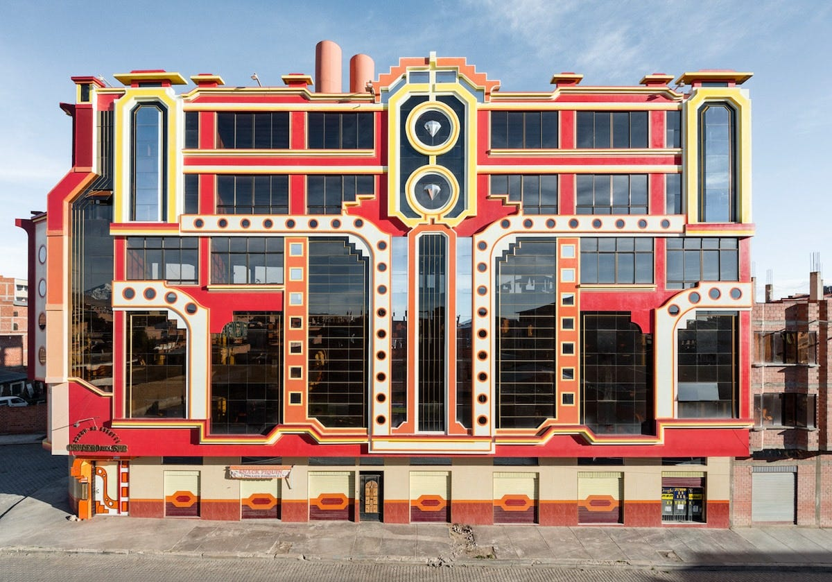 Freddy Mamani has transformed the Bolivian city of El Alto with his extravagant New Andean Architecture - photo by Peter Granser