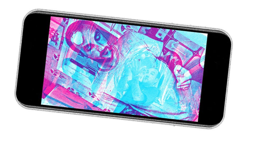 iPhone with images of a person