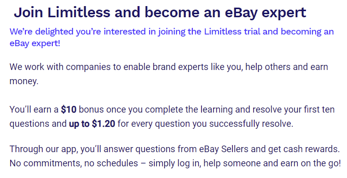 Join Limitless and become an eBay Expert