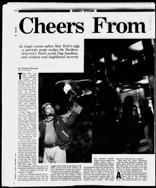 Newsday 9/11 story P. 1 -