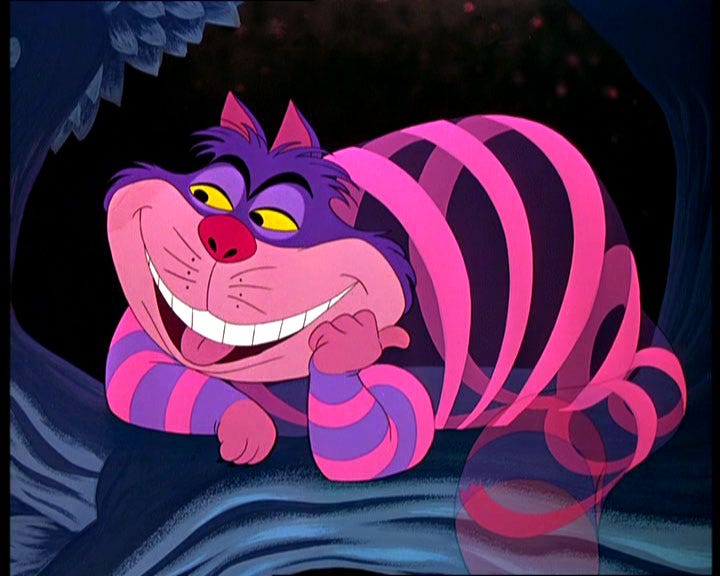 "Cheshire Cat from Lewis Carrol's ""Alice in Wonderland"""