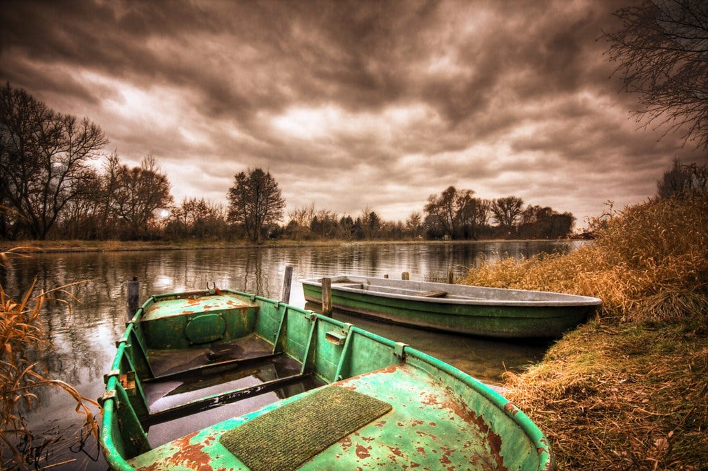 """""""green rowboat"""" by gari.baldi is licensed under CC BY-NC-ND 2.0"""