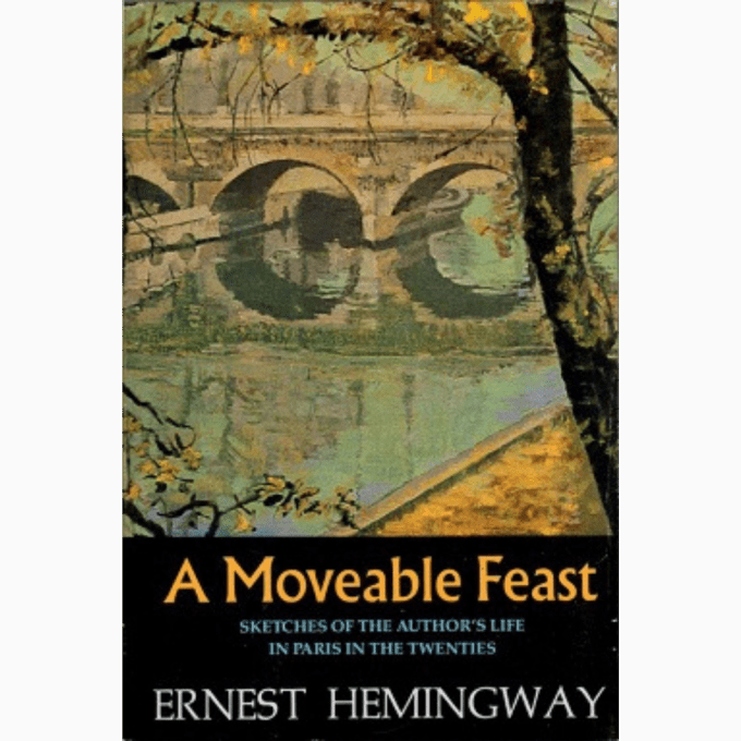 Cover of the original version of Ernest Hemingway's A Moveable Feast.
