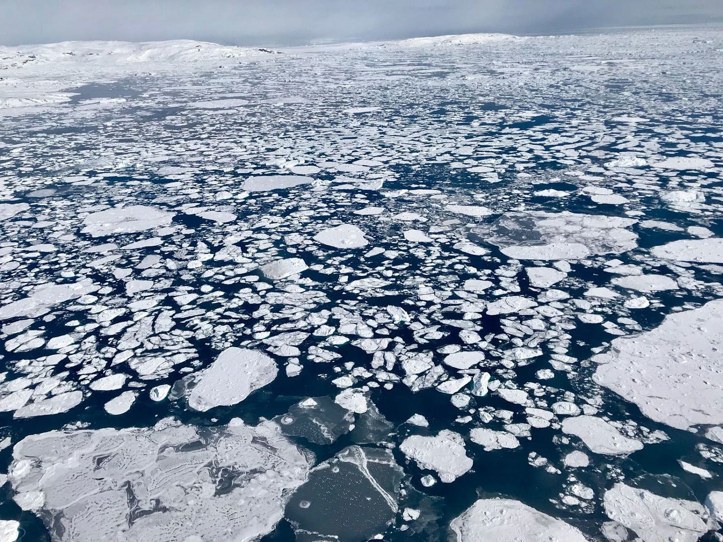 Sea ice in the eastern Beaufort Sea in 2018.