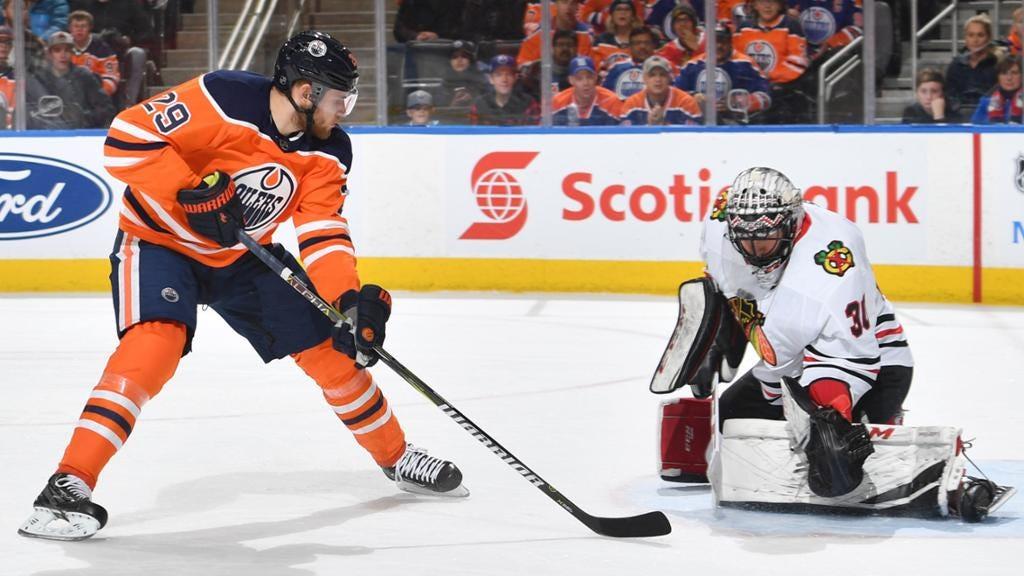 GAME STORY: Blackhawks 4, Oilers 3 (OT)
