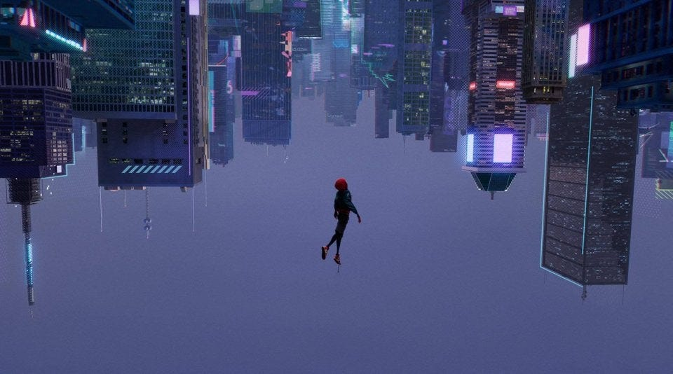 In Spider-Man: Into The Spider-Verse during Miles' leap of faith, his  shoelace is still untied : MovieDetails