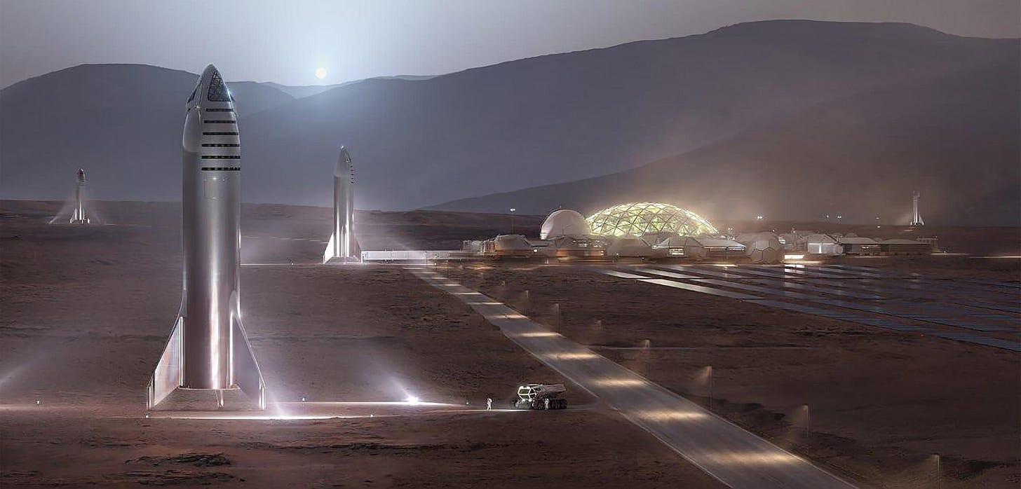 Starship on Mars (SpaceX)