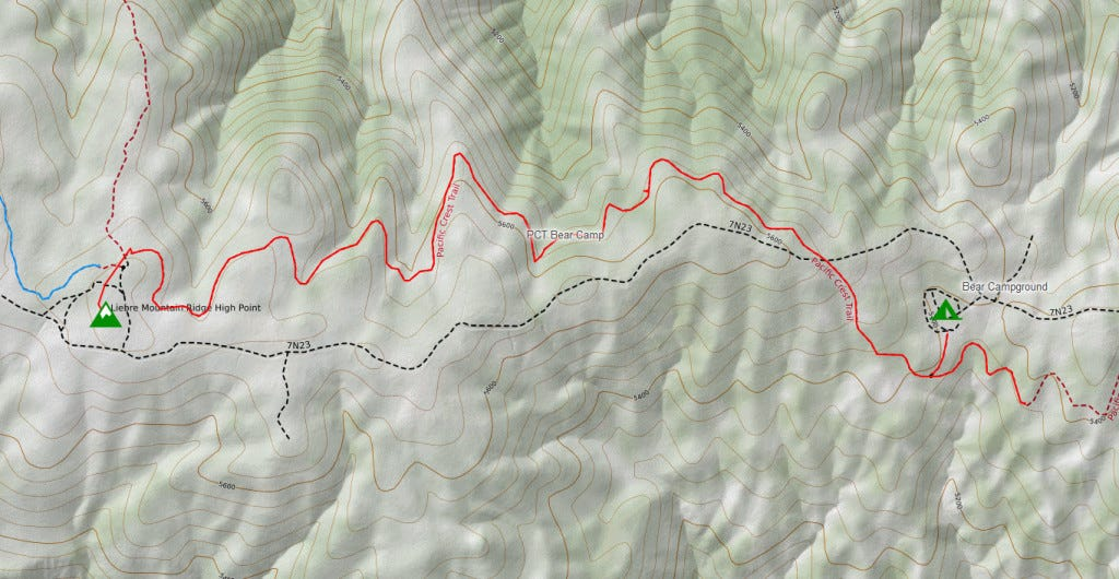 Topo map of this section of PCT