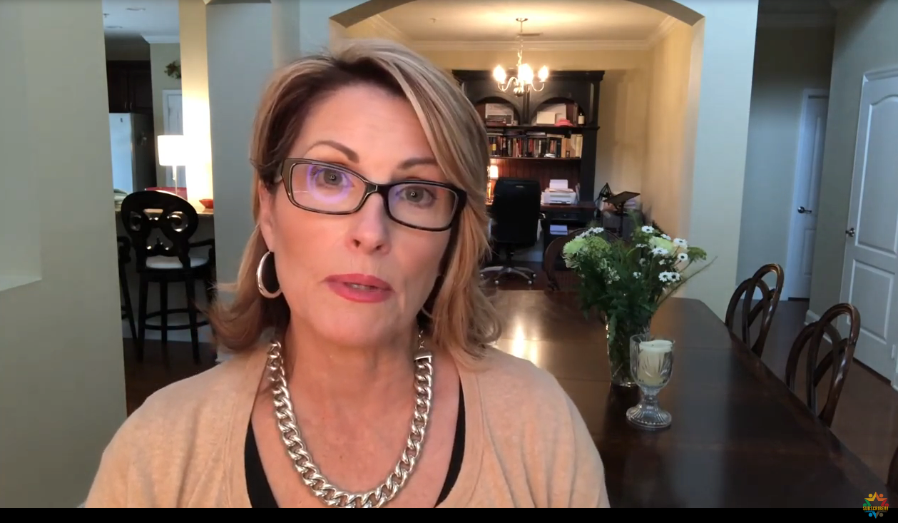 Laurie Cardoza-Moore in a Dec. 28, 2020 YouTube video
