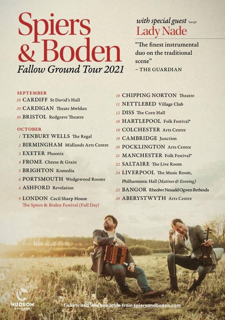 Spiers Boden Fallow Ground Tour Flyer 2021v 2