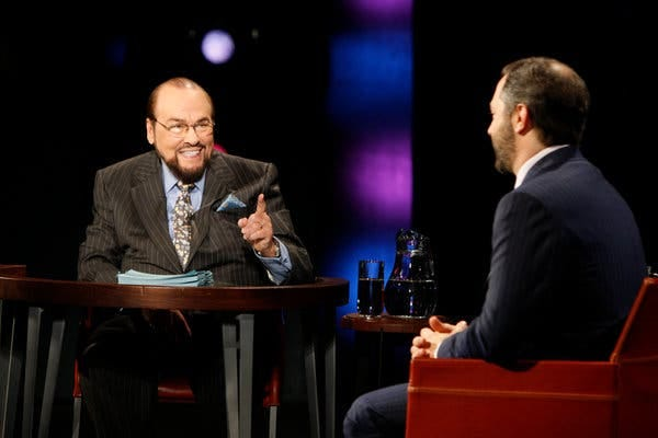 "James Lipton served as the host of ""Inside the Actor's Studio"" for 23 seasons. His easygoing yet knowledgeable interviewing style put his celebrity guests at ease. Here he was with the movie director Judd Apatow."