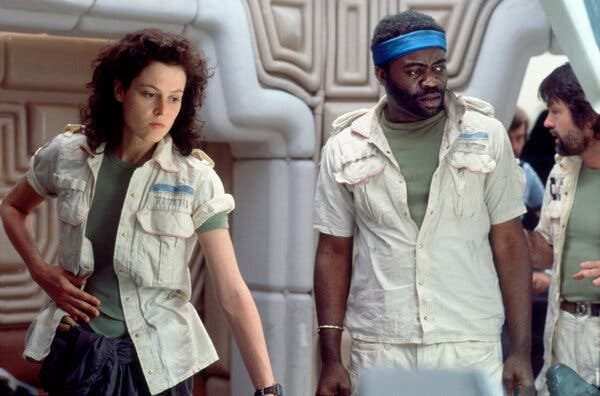 "Sigourney Weaver and Yaphet Kotto in ""Alien."""