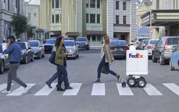 Fedex's new delivery bot - coming soon to a street near you.
