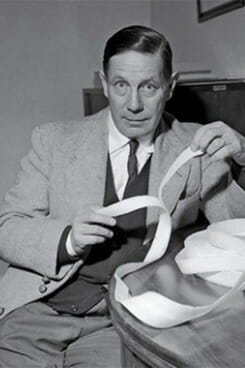 image of George de Mestral, creator of Velcro hook and loop fastening system used analogical thinking