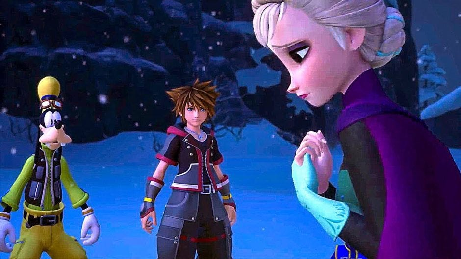 Image result for kingdom hearts 3 frozen