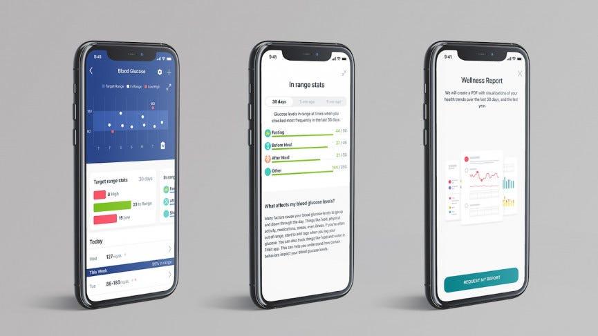 Fitbit glucose in app
