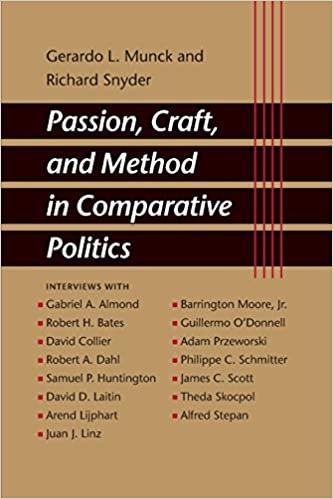 Passion, Craft, and Method in Comparative Politics: Munck, Gerardo L.,  Snyder, Richard: 9780801884641: Amazon.com: Books