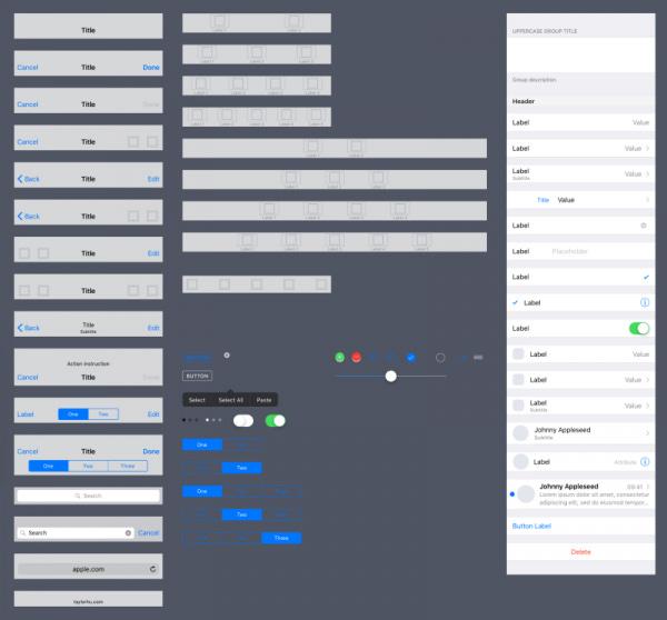 上面是我製作的 Sketch UI 套件,可參考《如何使用iOS 10 UI Kit》一文。